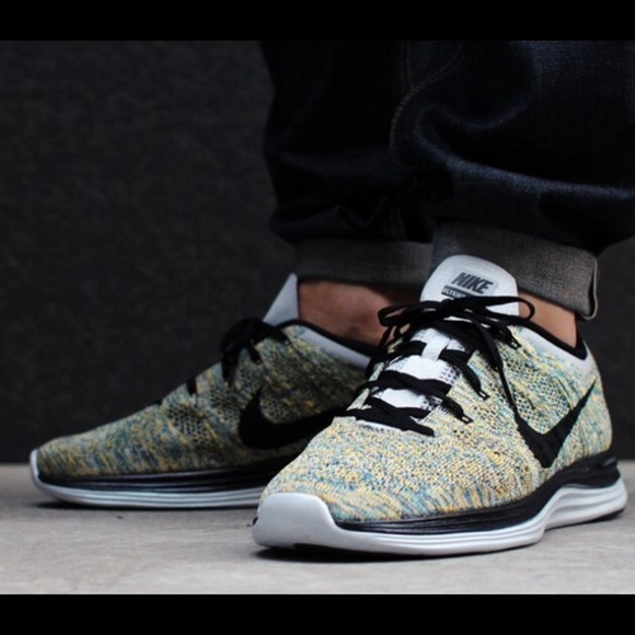 new concept 2b87b f2852 ... where to buy mens sz 9.5 multi color nike flyknit lunar 1 shoes bd906  6f49b ...